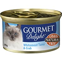 Gourmet Delight Cat Pet Food Whitemeat Tuna and Crab, 24 x 85g, 24 Piece