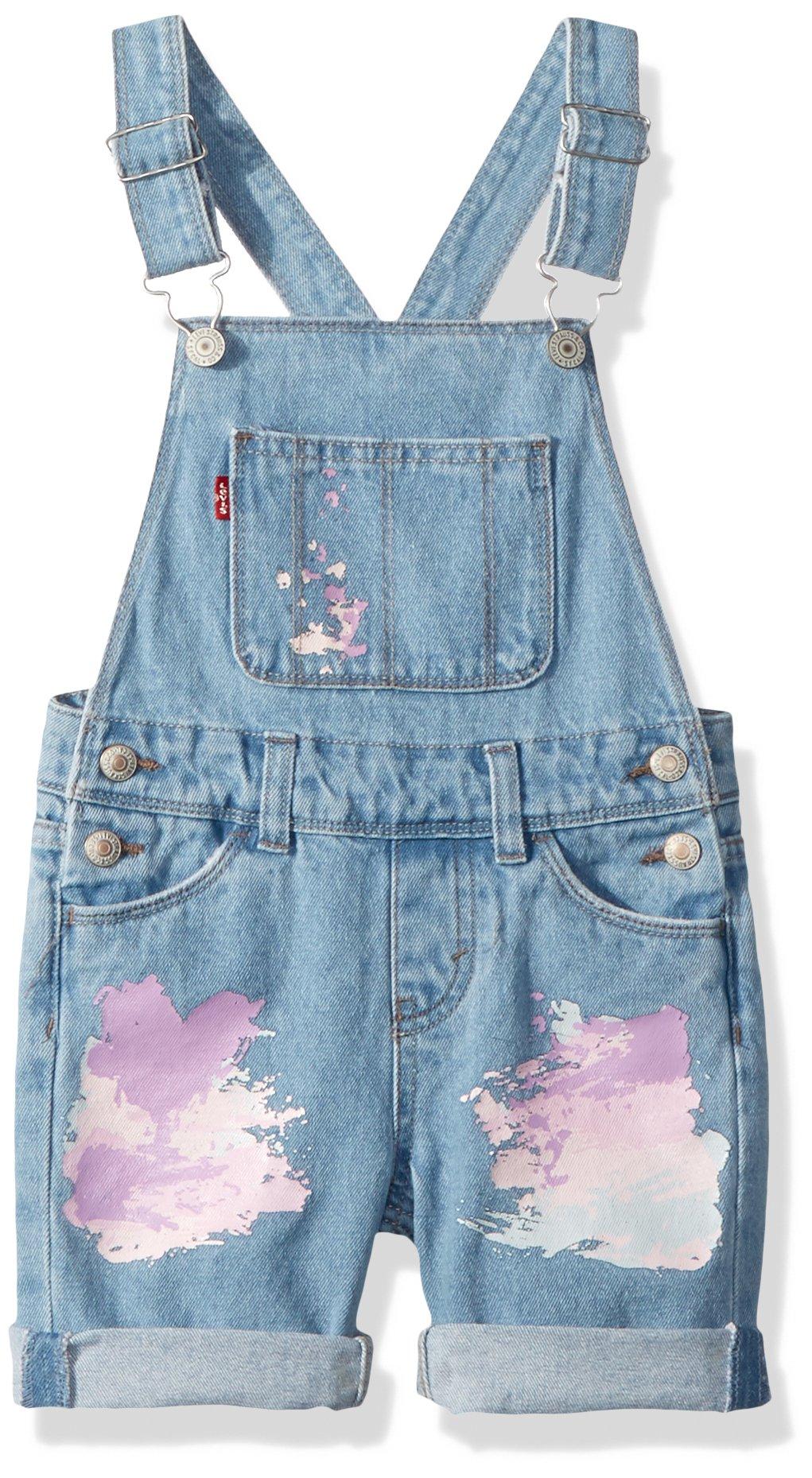Levi's Girls' Little Denim Shortalls, Montauk, 6