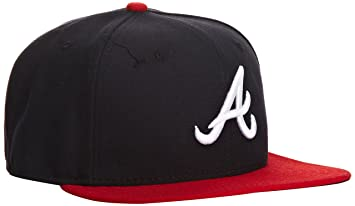 3ebfd690e66 New Era Erwachsene Baseball Cap Mütze Mlb Authentic Atlanta Braves 59Fifty  Fitted Team Colour