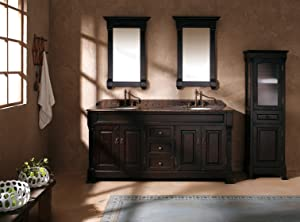 James Martin Furniture Double Cabinet Vanity, 72-Inch, Burnished Mahogany