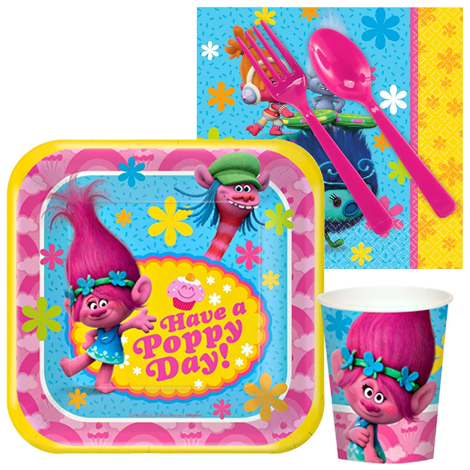 Snack Party Pack for 8 SG/_B01MFEZF3V/_US BirthdayExpress Trolls Party Supplies