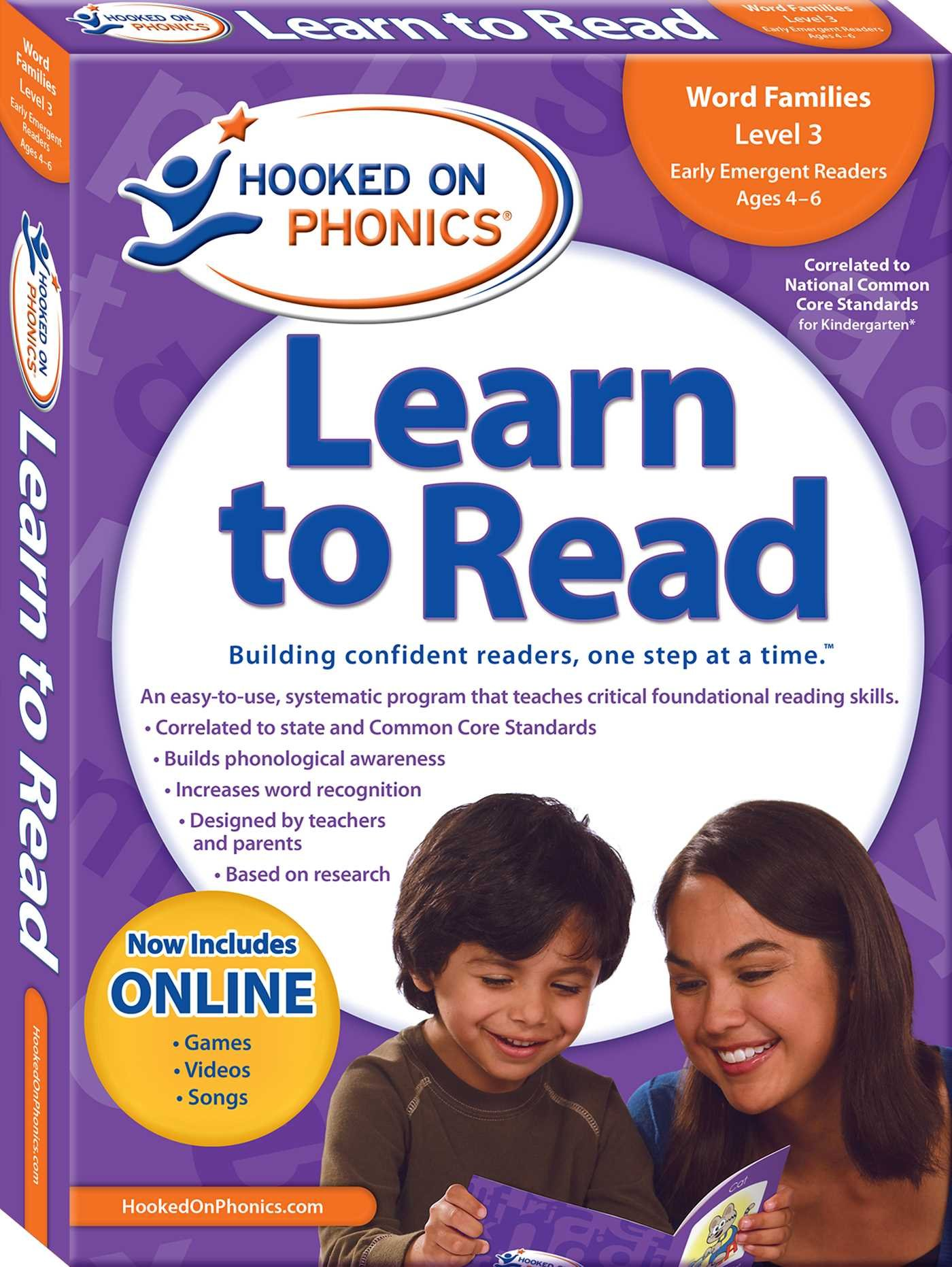 Learn to Read Kindergarten Level 1 by Hooked On Phonics (Image #1)