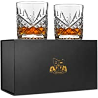 Whiskey Glasses - Lead Free Crystal. Set of 2 Van Daemon 'Star of Salamanca' Tumblers (300ml) for Spirits. Perfectly Gift Boxed.