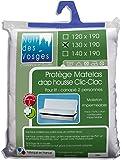 Nuit des Vosges 2090918 Céline Protège Matelas Imperméable Spécial Banquette Coton Blanc 130 x 190 cm