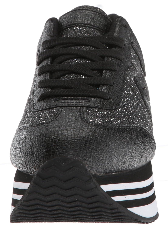 Skechers Women's Highrise-Glitter T B(M) Toe Sneaker B0787GT2ZR 6 B(M) T US|Black 9e073a