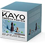 Vegan Protein Powder, Non-GMO, Gluten-Free, Dairy-Free, Soy Free, Blend of Pea, Hemp, Fava, Protein 20g, BCAA 4g, Chocolate flavor, Single-Serve Packets x 12, by KAYO