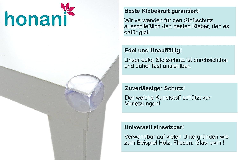 Premium Eckenschutz - Rund 12 St/ück Transparent superstarker Kleber von Honani