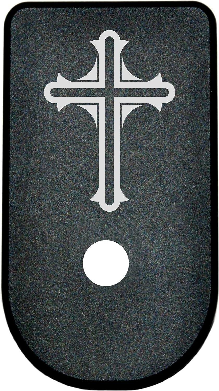 BASTION Laser Engraved Aluminum Magazine Floor Base Plate forGlock 43 9mm G43 - Cross 81B0wg4lmQL