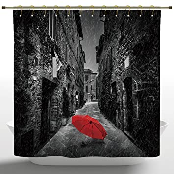 Amazoncom Funky Shower Curtain By Iprintblack And Whitered