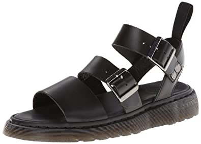dd477873c075 Dr.Martens Womens Gryphon Black Leather Sandals 5 US