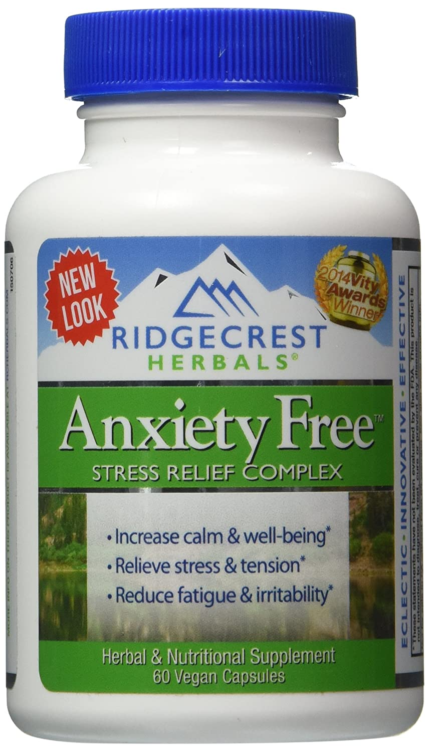 Cheap herbal supplement - Amazon Com Ridgecrest Anxiety Free Herbal And Nutrition Stress Support 60 Count Health Personal Care