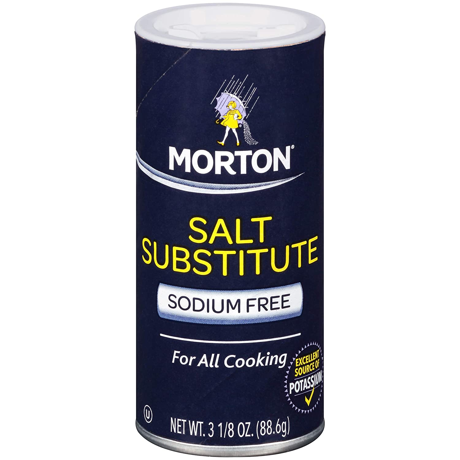 Morton Salt Substitute, 3.125 Ounce (Pack of 6)