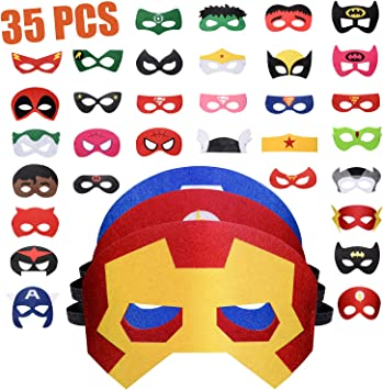 Mask Cosplay Batman Marvel Spiderman natale bambini party maschera per adulti