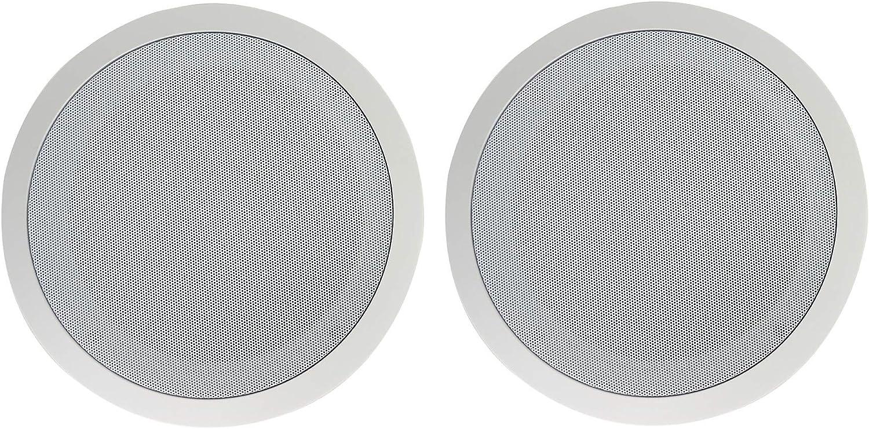 """2 Rockville CC80T White 8/"""" Commercial 70v Ceiling Speakers For Restaurant//Bar"""