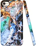 """Iphone 8 Case, Iphone 7 Marble Case, A-Focus Frosted Shockproof Slim Marble Ice and Fire Wave Pattern Series Soft Flexible Silicone Cover for Iphone 7 / Iphone 8 4.7"""" - Matte Blue 3"""