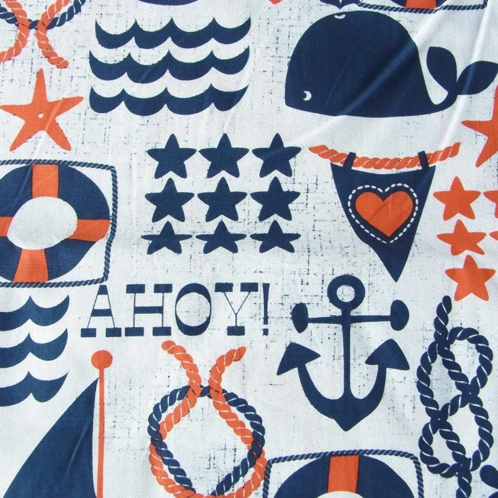 amazon com michael miller ahoy matey ahoy navy fabric by the yard