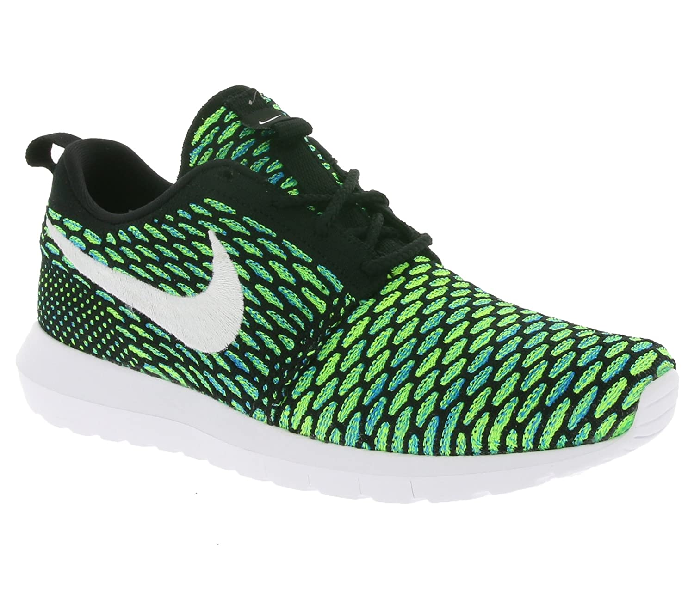 Nike Herren Mens Roshe NM Flyknit Shoe Gymnastik  40.5 EU|Black (Nero / Bianco-verde-volt Di Tensione)