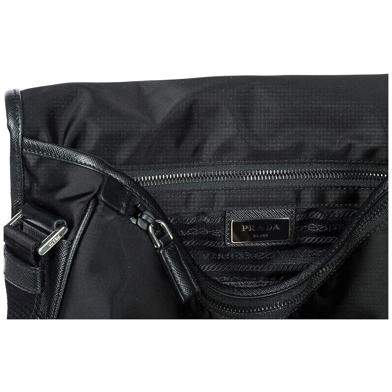 ead369542aa8 Amazon.com | Prada Nylon Messenger Bag with Steel Hardware | Messenger Bags