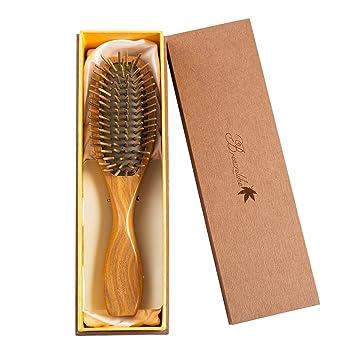 Amazon Com Breezelike Sandalwood Hair Brush Wooden Natural