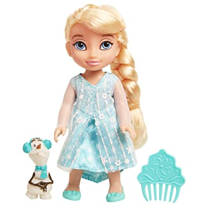 Disney Frozen Petite Elsa Doll with Olaf & Comb: Toys & Games