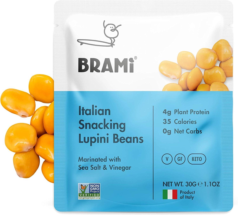 BRAMI Lupini Bean Snack, sal marina   On The Go High Plant ...