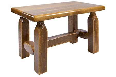 Montana Woodworks MWHCFSBSL Homestead Collection Ottoman, Stain Lacquer Finish