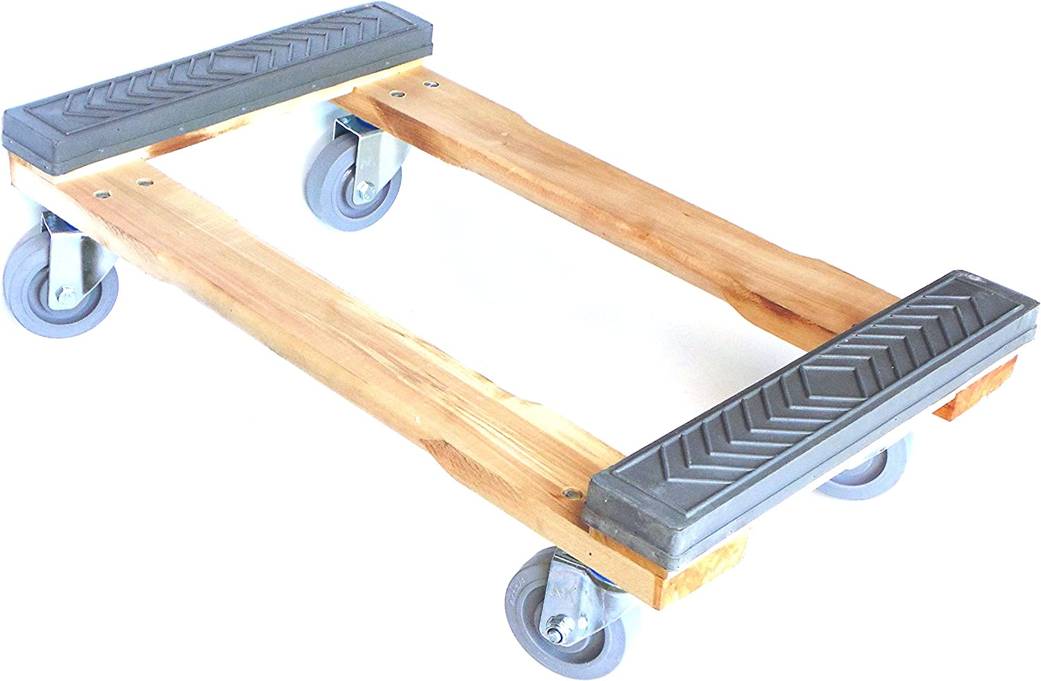 NK Furniture Movers Dolly, Rubber End Caps, Soft Gray Non-Marking TPR Wheels, 30