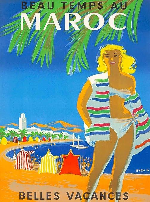 vacances au maroc Amazon.com: MAGNET Beau Temps Au Maroc Morocco Africa Vintage Belles  Vacances Travel Magnet Print: Automotive