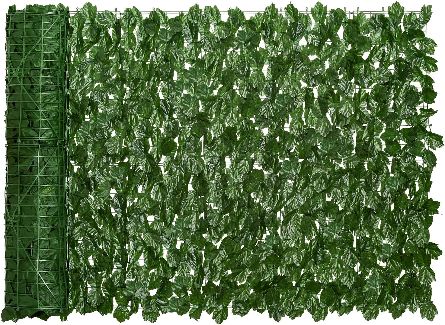 DearHouse Artificial Ivy Privacy Fence Screen, 118.1x39.3 inch Artificial Hedges Fence and Faux Ivy Vine Leaf Decoration for Outdoor Decor, Gardenecor, Garden