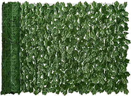 Garden Artificial Hedges Artificial Privacy Panels Topiary Hedge Plant Faux Ivy Privacy Fence Screen,Vine Decoration for Outdoor Decor Yard