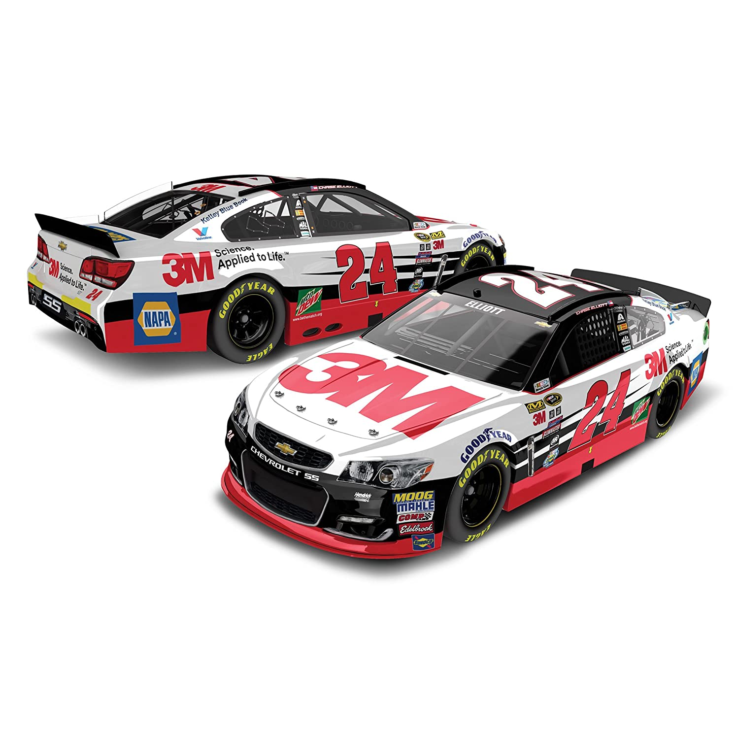Lionel Racing Chase Elliott 24 3M 2016 Chevy SS NASCAR 1:24 Scale Diecast Car