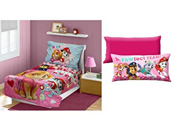 Paw Patrol Skye Best Pups Ever 4 Piece Toddler Bedding Set With Girl
