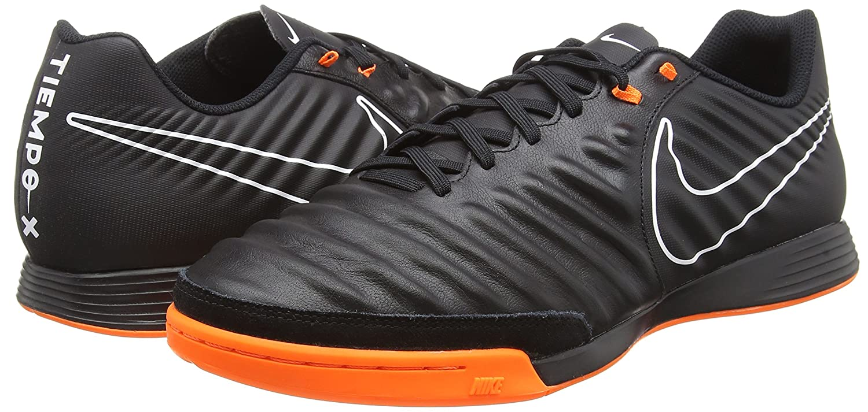 Amazon.com | Nike Mens Tiempo LegendX 7 Academy IC Shoes (Black/Total Orange/White) | Soccer