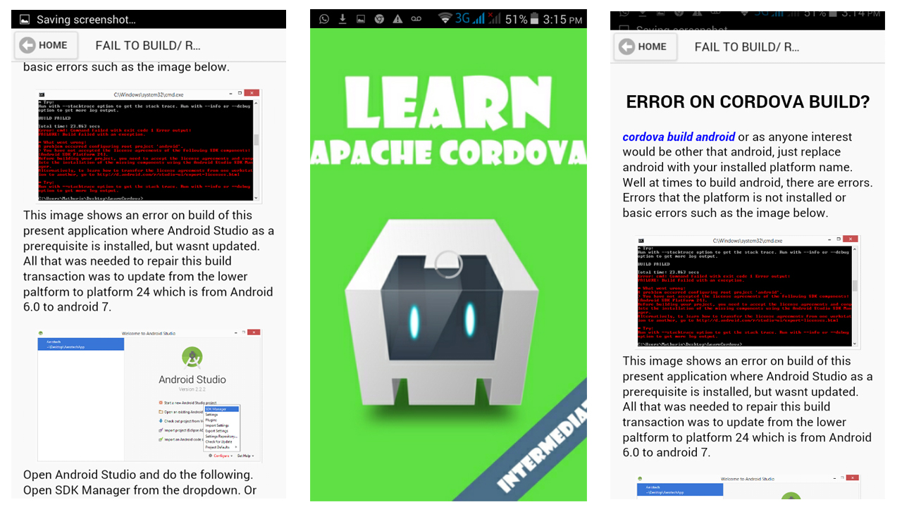 Amazon com: Learn Cordova Framework: Appstore for Android