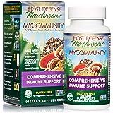 Host Defense, MyCommunity Capsules, Advanced Immune Support, Mushroom Supplement with Lion's Mane, Reishi, Vegan, Organic, 60 Capsules (30 Servings)