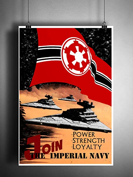 Amazon Com Star Wars Propaganda Art Imperial Navy Star Destroyer Pop Art Handmade