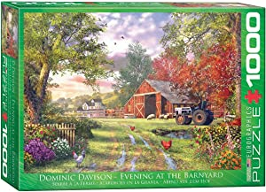 EuroGraphics Evening at the Barnyard by Dominic Davison Jigsaw Puzzle (1000-Piece)