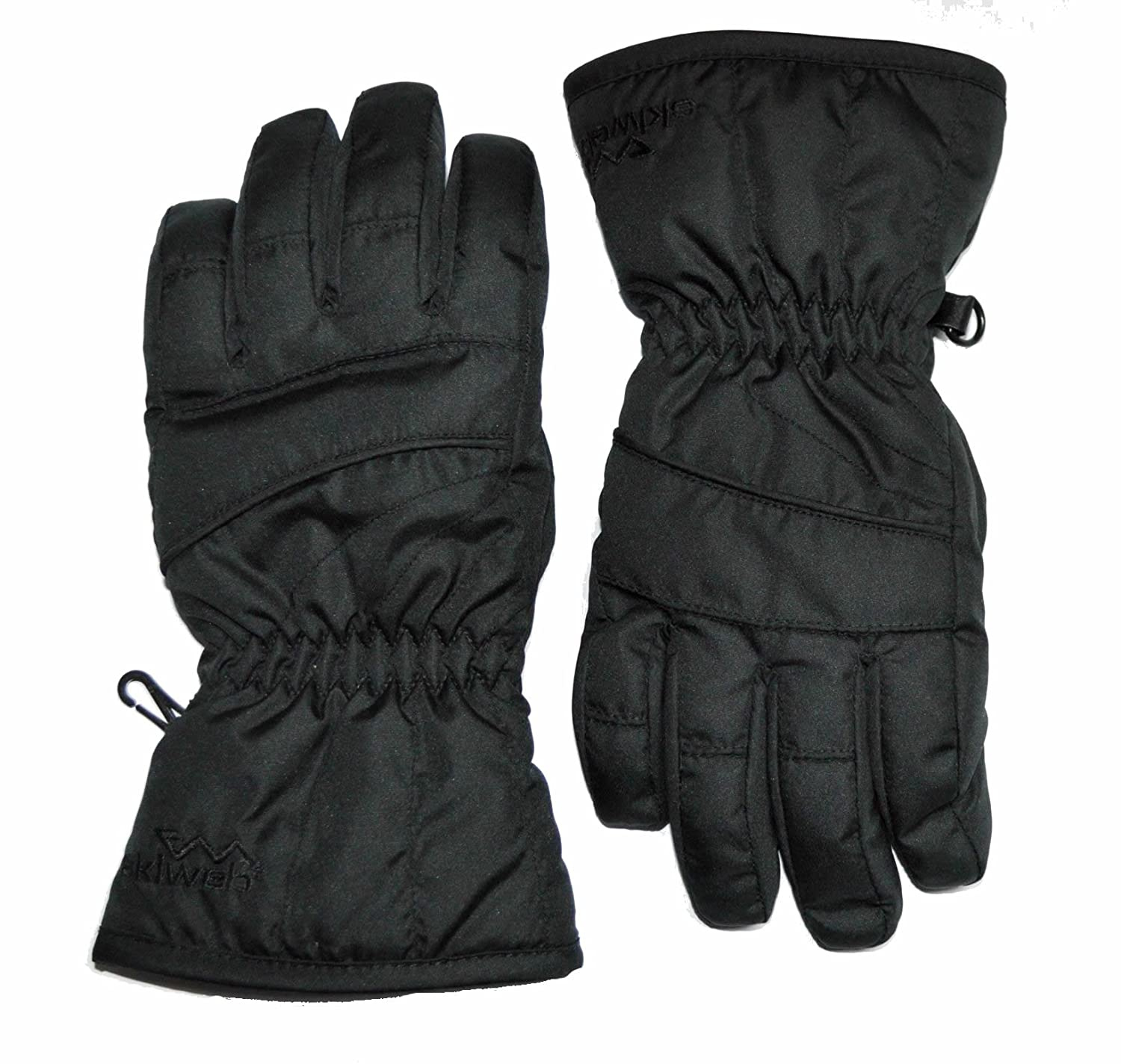 Childrens black leather gloves - Amazon Com Kids Black Ski Snowboard Gloves Sizes Age 4 12 Sports Outdoors