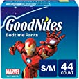 GoodNites Bedtime Bedwetting Underwear for Boys, S-M, 44 Count