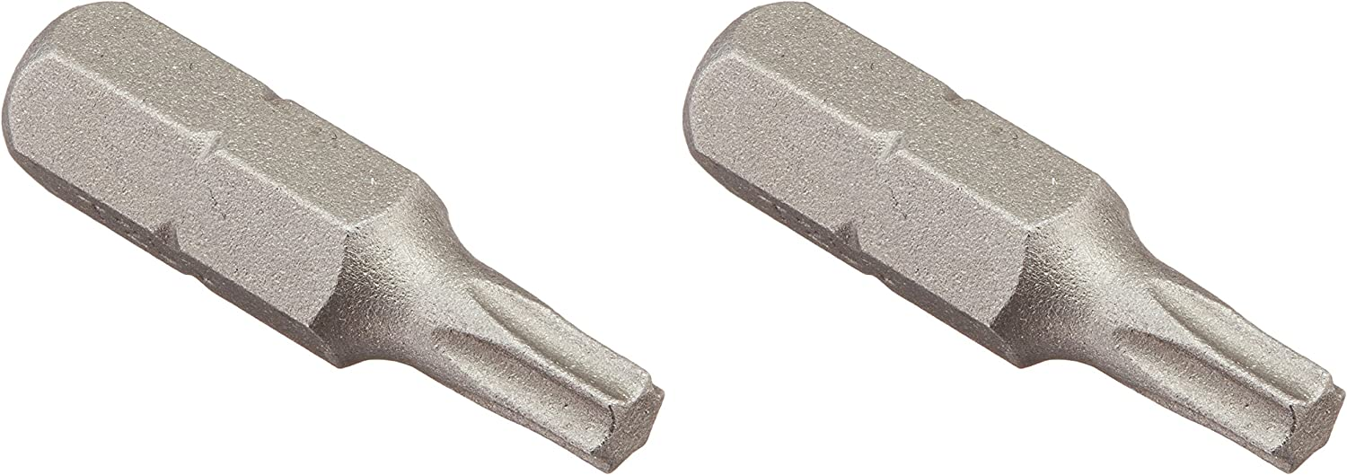2 Pieces Per Card Vermont American 15405 Type Torx Size TX20 with 1-Inch Length Extra Hard Screwdriver Bit