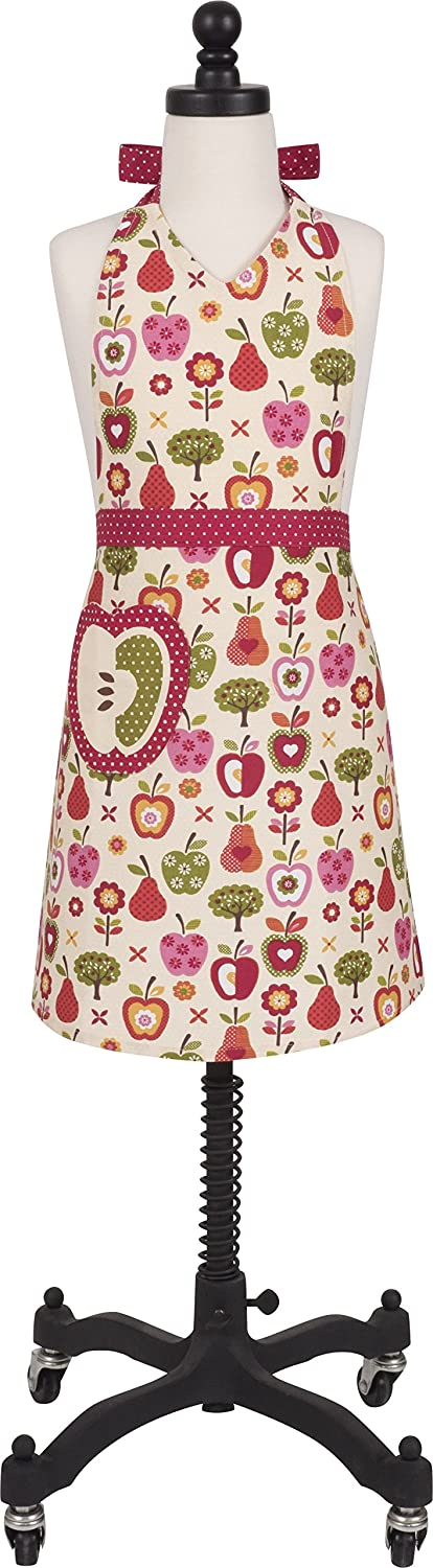 Child's Cotton 'An Apple a Day' Apron with Patch Pocket