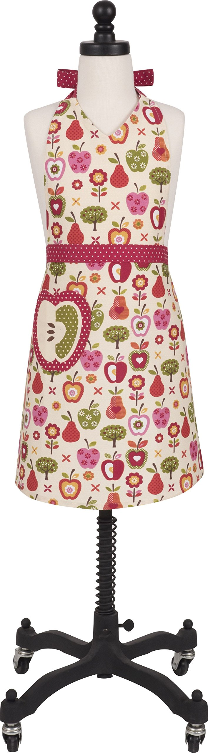Handstand Kitchen Child's 100% Cotton 'An Apple a Day' Apron with Patch Pocket