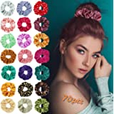 70Pcs Hair Scrunchies, Velvet, Chiffon Flower,silk Hair Bands for Women or Girls Hair Accessories for Holiday Seasons