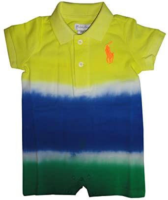 8a97a5b3a Amazon.com  Ralph Lauren Polo Baby Boys Short Sleeve Tie Dye Romper ...