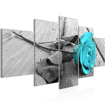 Bilder Blumen Rose Wandbild Vlies - Leinwand Bild XXL Format ...