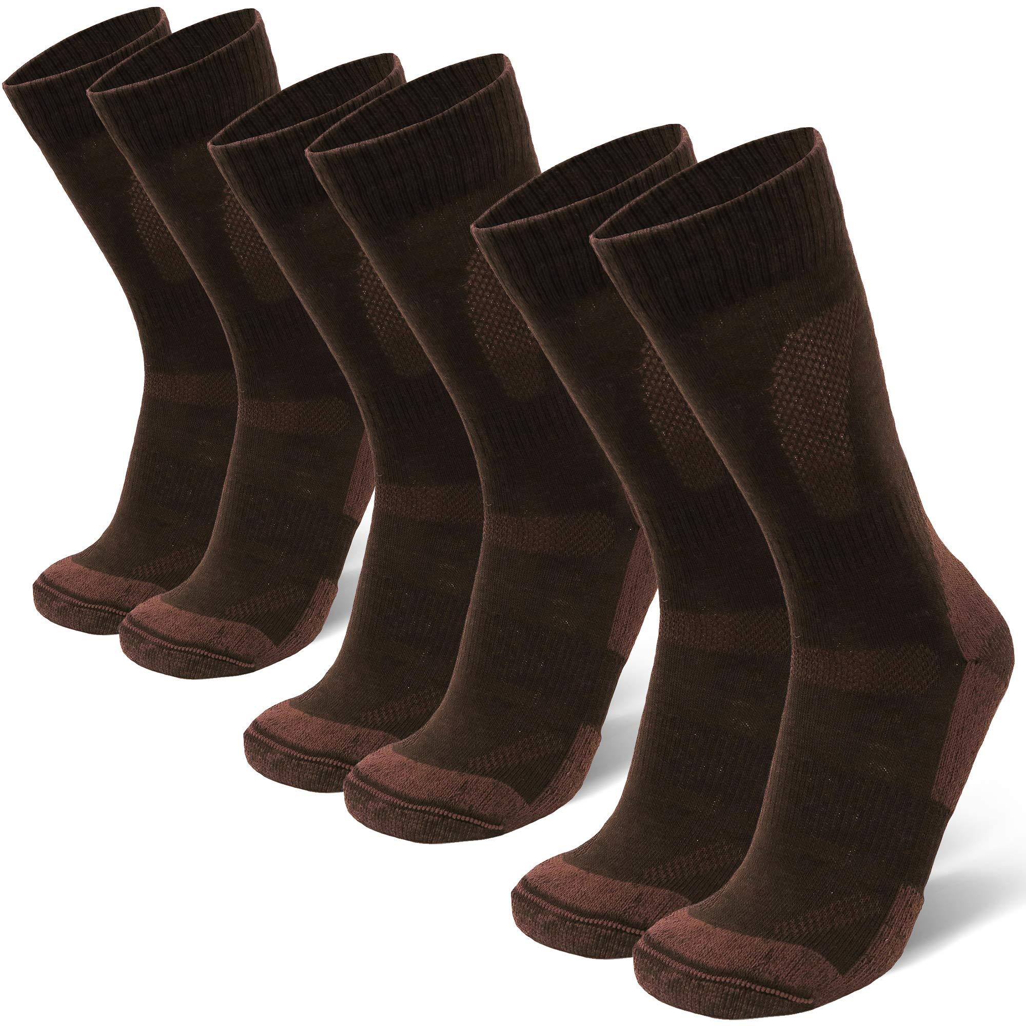 DANISH ENDURANCE Merino Wool Hiking & Trekking Socks (Oak Brown 3 Pairs, US Women 11-13 // US Men 9.5-12.5) by DANISH ENDURANCE