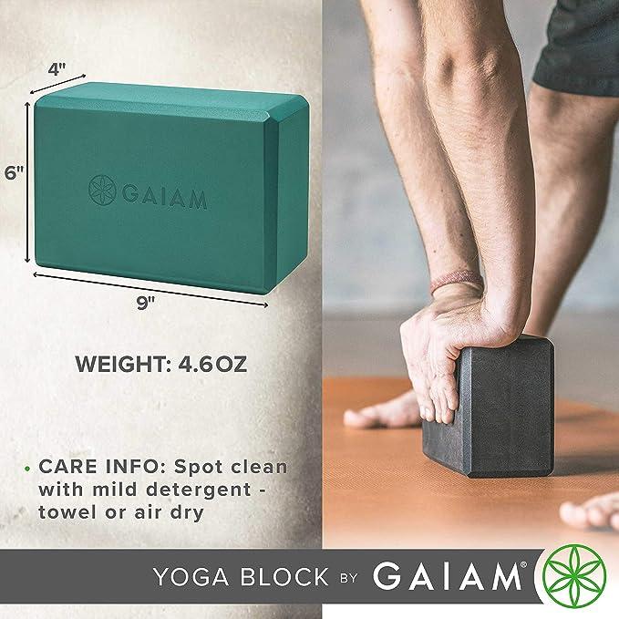 Noir gaiam Medallion Bloc de Yoga Mixte Adulte