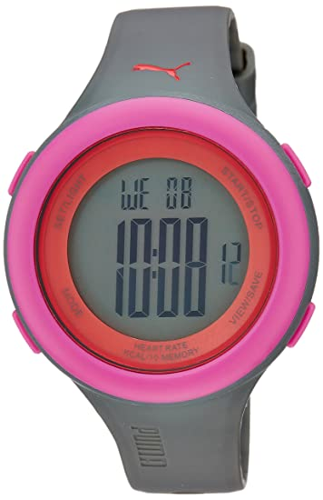 Puma PU910961004 Fit Matt Grey Pink Watch