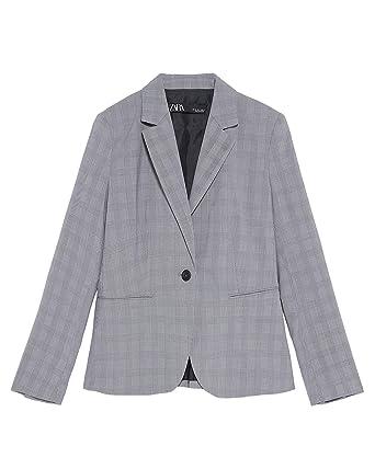 8b29b9dd Zara Women Check blazer 2753/035 (36 EU) at Amazon Women's Clothing ...