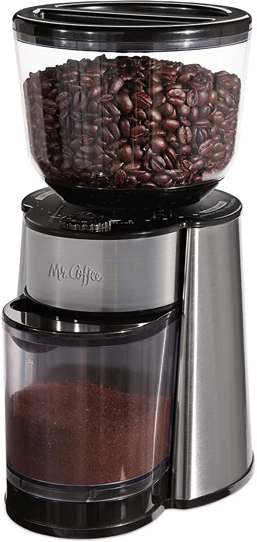 Amazon.com: Mr. Coffee Automatic Burr Mill Coffee Grinder with 18 ...